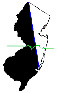 Where was the West Jersey/East Jersey line?