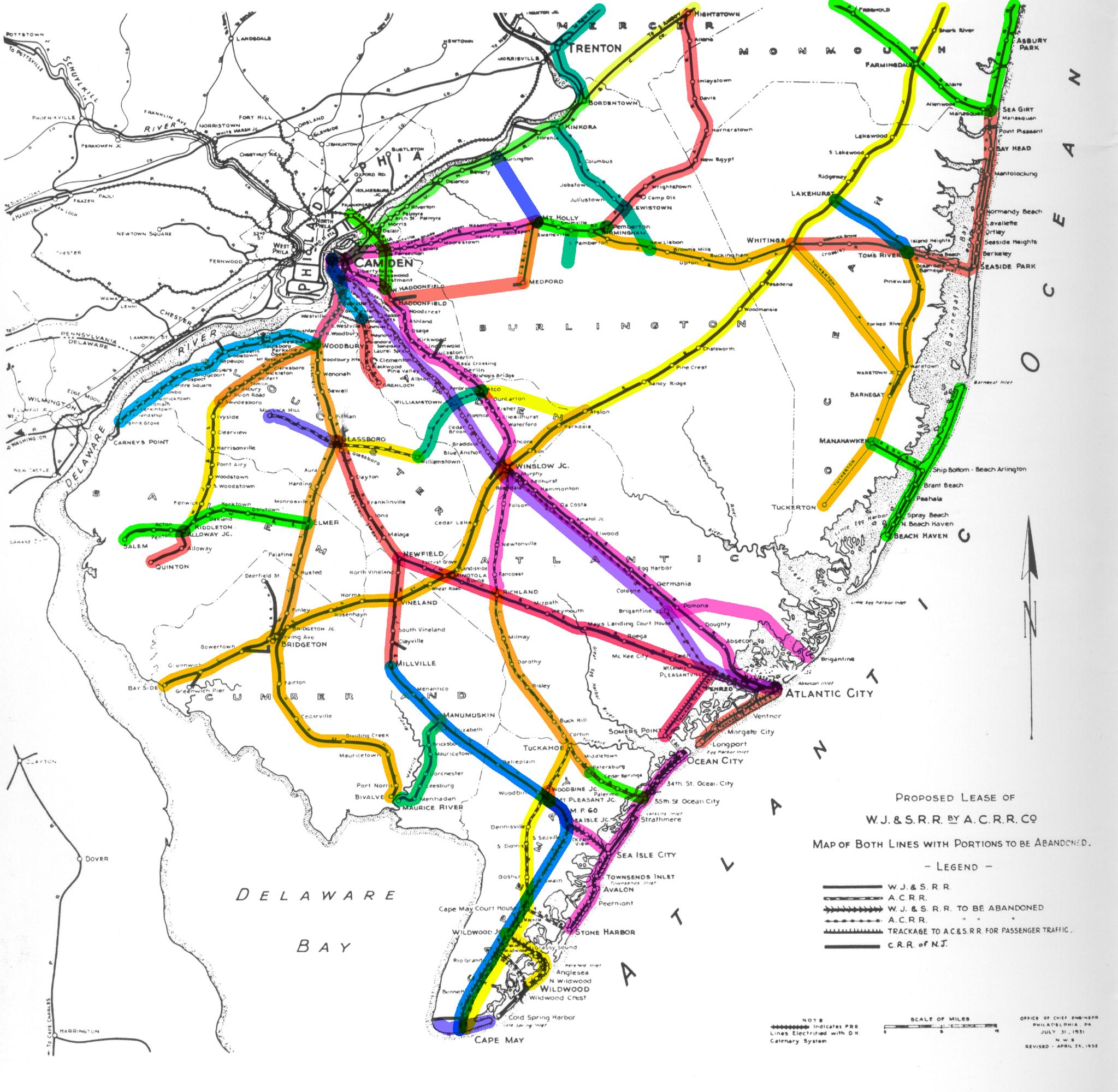 South Jersey Rails - South jersey map